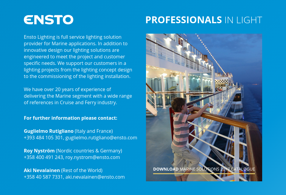 Ensto Lighting Marine - Future Cruise   Issue 2   December 2017