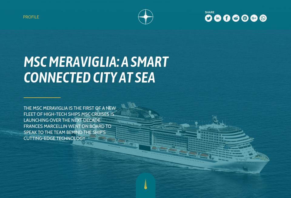 MSC Meraviglia: a smart connected city at sea - Future Cruise